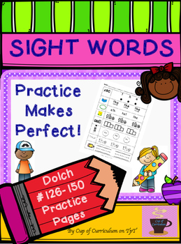 SIGHT WORDS Practice Dolch 126-150