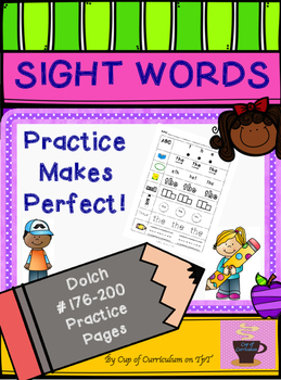 SIGHT WORDS Practice Dolch 176-200