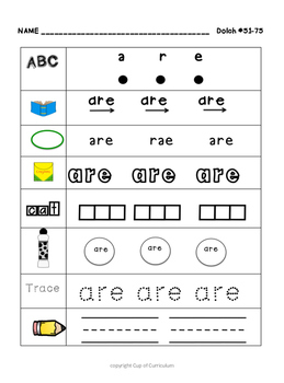 SIGHT WORDS Practice Dolch 51-75