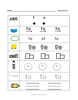 SIGHT WORDS Practice Dolch 1-25