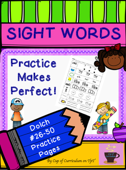 SIGHT WORDS Practice Dolch 26-50