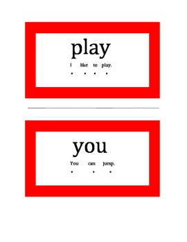 SIGHT WORDS SAY: VOL 1 RED WORDS