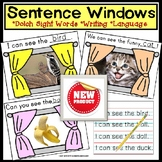 SIGHT WORDS Sentence Writing Windows with IEP Goals for Sp