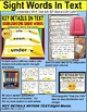 """SIGHT WORDS Task Cards KEY DETAILS WITHIN TEXT """"Task Box Filler"""" Autism SET 2"""