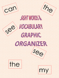 SIGHT WORDS /VOCABULARY(K.I.M.S.) GRAPIC ORGANIZER