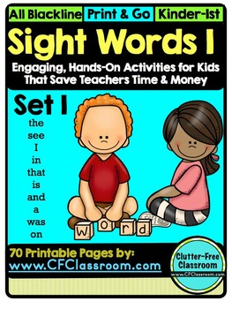 SIGHT WORDS:SET 1 {games printables flashcards activities high-frequency words}