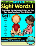 SIGHT WORDS:SET 1 {games printables flashcards activities