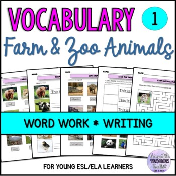 ESL Domestic and Wild Animals Vocabulary - BUSY HANDS SERIES VOL.1