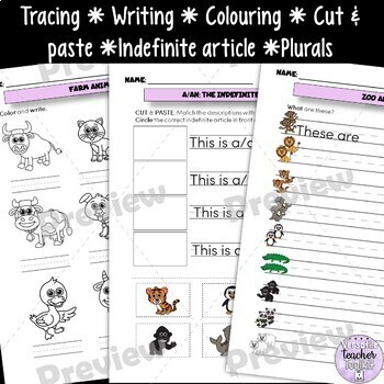 Farm and Zoo Animals Vocabulary Activities Hands-On 1