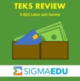 SIGMA Education | Math 3 TEKS Review - 3.9(A) Labor and Income