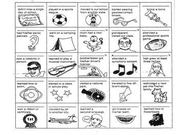 SIGN-O     Class/TEAM Building Activities