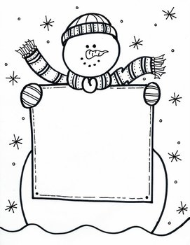SIGN holding Snowman