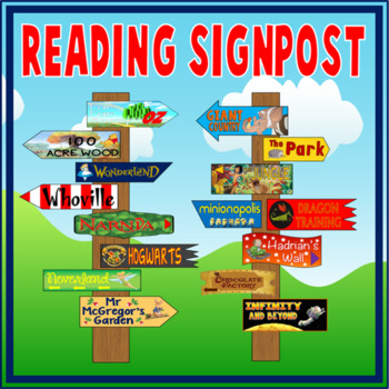 SIGNPOSTS FOR READING AREA - LITERACY ENGLISH IMAGINATION INSPIRATION
