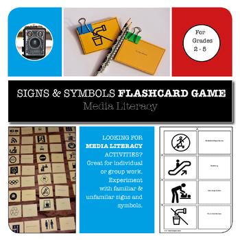 SIGNS & SYMBOLS FLASHCARD GAME - MEDIA LITERACY