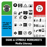MEDIA LITERACY - SIGNS & SYMBOLS WORKSHEETS