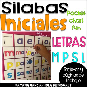 SILABAS INICIALES- POCKET CHART- M, P, S, L
