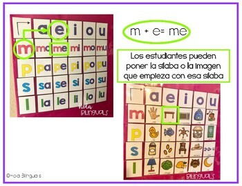 SILABAS INICIALES- POCKET CHART- N, F, B, J