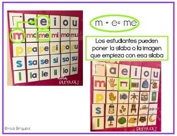 SILABAS INICIALES- POCKET CHART- T, D, R, C