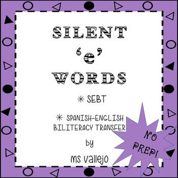 SILENT 'E' WORDS