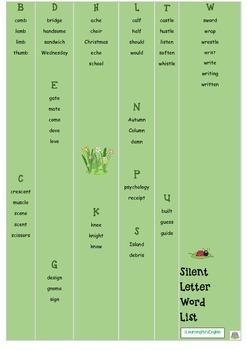 SILENT LETTER BOARD GAME - SILENT WORD SLIDE - PRINTABLE