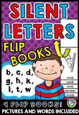 PHONICS ACTIVITIES (SILENT LETTERS FLIP BOOKS)