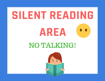 SILENT READING AREA (POSTER)