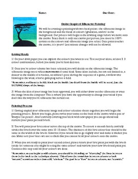 SILHOUETTE PAINTING ACTIVITY INSTRUCTIONS (RUBRIC INCLUDED), ONTARIO CURRICULUM