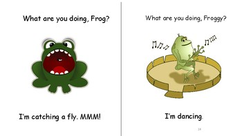 SILLY FROGS-  INTERACTIVE BOOK -ANSWERING QUESTIONS/ ACTIONS