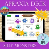 SILLY MONSTERS Apraxia Deck: BOOM Cards for SPEECH TELETHERAPY