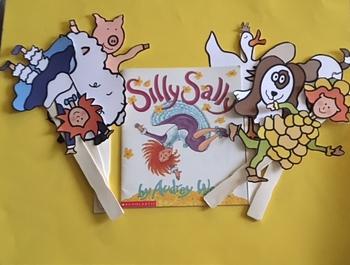 SILLY SALLY TEACHER SIZE PUPPET STICKS