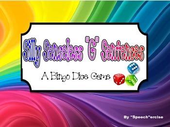 "SILLY SENSELESS ""G"" SENTENCES- A BINGO DICE GAME for ""G"" a"