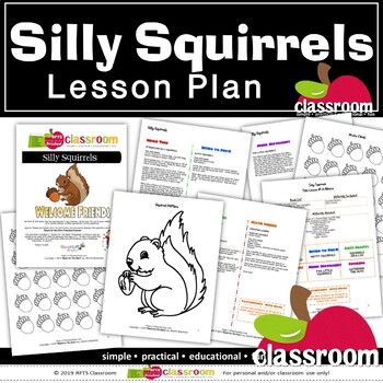 SILLY SQUIRRELS Preschool PreK Kindergarten 1-Day Lesson Plan