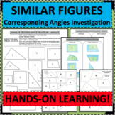 SIMILAR FIGURES Investigation of Corresponding Congruent Angles