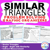 SIMILAR TRIANGLES & INDIRECT MEASUREMENT Word Problems with Graphic Organizers