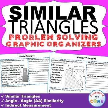 SIMILAR TRIANGLES & INDIRECT MEASUREMENT Word Problems wit