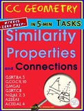 SIMILARITY: Properties and Connections ( HS Geometry Tasks/ Warm Ups- Unit 13.1)