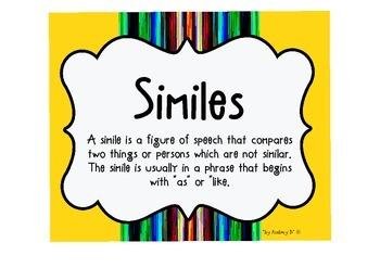 SIMILE - Language Arts - Creative Writing - Grammar