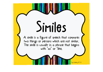SIMILE - Language Arts - Creative Writing - Grammar