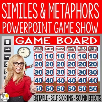 SIMILES AND METAPHORS POWERPOINT GAME SHOW: AN EDITABLE POWERPOINT GAME
