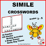 SIMILES Crossword Puzzles | FIGURATIVE Language | Vocabulary | Gr 3-4-5 ♥NO PREP
