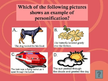 SIMILES, METAPHORS, & MORE JEOPARDY POWERPOINT ELEMENTARY ~ INTERACTIVE GAME