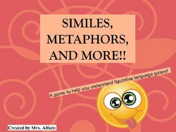 SIMILES, METAPHORS, & MORE JEOPARDY POWERPOINT ELEMENTARY