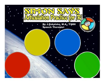 SIMON SAYS Articulation Game for /R/ Practice- Speech Therapy