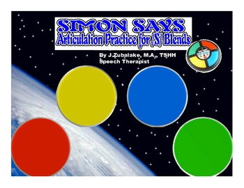 SIMON SAYS Articulation Game for /S/ Blend Practice- Speech Therapy