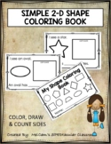 SIMPLE 2-D SHAPE COLORING BOOK
