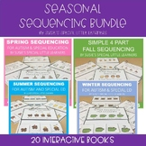 4 SEASONS 4 PART SEQUENCING INTERACTIVE BOOKS FOR AUTISM