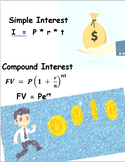 SIMPLE AND COMPOUND INTEREST - PERIODIC AND CONTINUOUSLY
