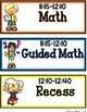 SIMPLE & CLEAN: Match Any THEME!~Editable Classroom Schedule Cards