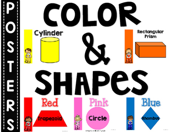 SIMPLE & CLEAN: Match Any THEME!~Color & Shapes Posters