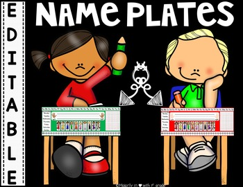 SIMPLE & CLEAN: ~Student Desk Nameplates {Editable for Stu